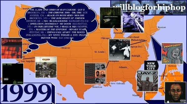 Hip Hop Map - 1999