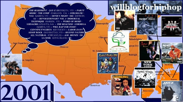 Willblogforhiphop digging beneath the surface of hip hop with hip hop map 2001 malvernweather Choice Image