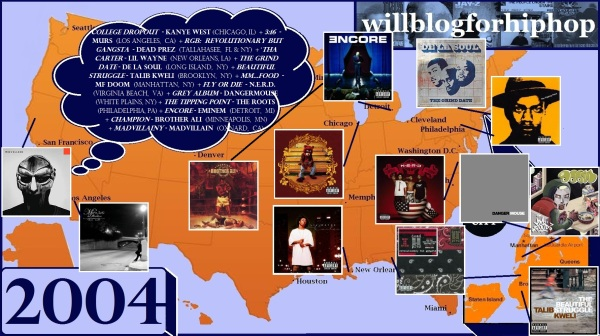 Hip Hop Map - 2004